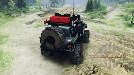 Jeep Cherokee XJ v1.1 Camo para Spin Tires