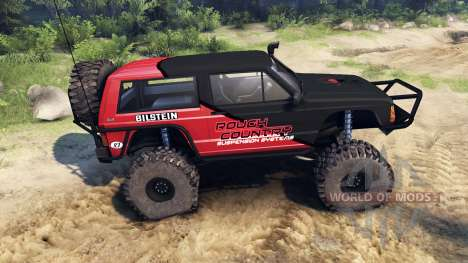 Jeep Cherokee XJ v1.1 Rough Country red clean para Spin Tires