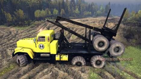 KrAZ-255B en un color amarillo-KrAZ 88- para Spin Tires