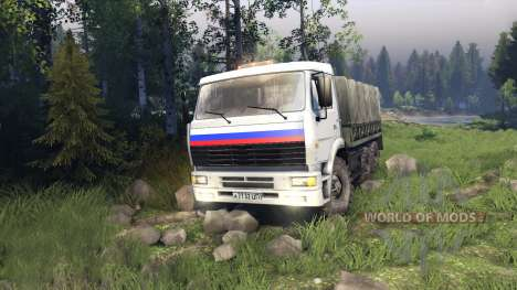 KamAZ camionero para Spin Tires