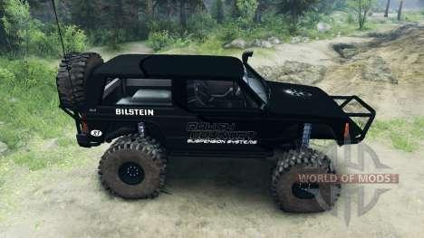 Jeep Cherokee XJ v1.1 Rough Country black para Spin Tires