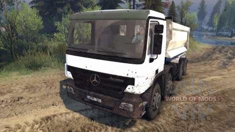 Mercedes-Benz Actros Tipper para Spin Tires