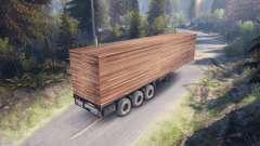 De madera de remolque