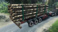 Remolque de madera