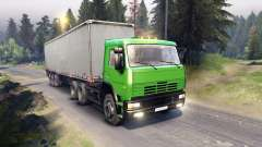 KamAZ-6522 en color verde