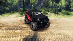 Jeep Cherokee XJ v1.1 Rough Country red clean