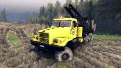 KrAZ-255B en un color amarillo-KrAZ 88-