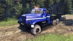 KrAZ-255B en color azul-KrAZ de Alimentación de
