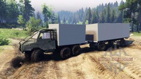 LuAZ-13021 6x6 para Spin Tires