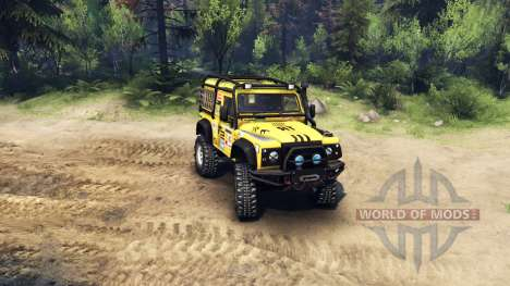 Land Rover Defender 90 para Spin Tires