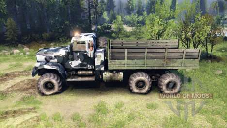 KrAZ-255 camo v3 para Spin Tires