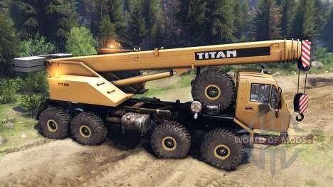 KrAZ-E v2.0 Amarillo para Spin Tires