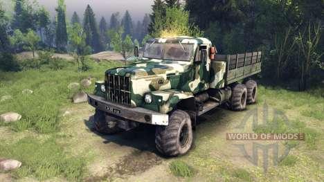 KrAZ-255 camo v4 para Spin Tires