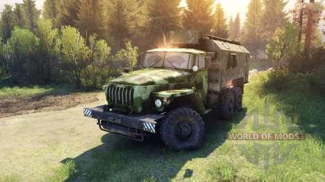 Ural-4320 camo v1 para Spin Tires