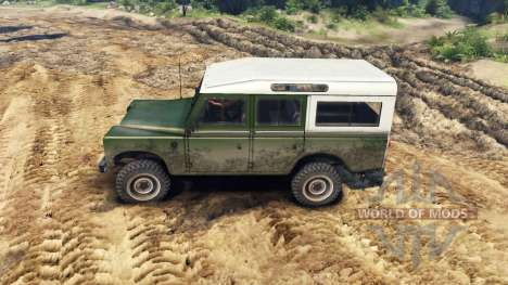 Land Rover Defender Green para Spin Tires