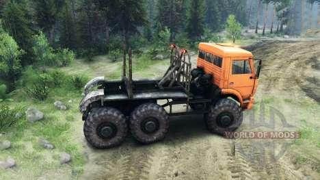 KamAZ-6520 Monstruo para Spin Tires