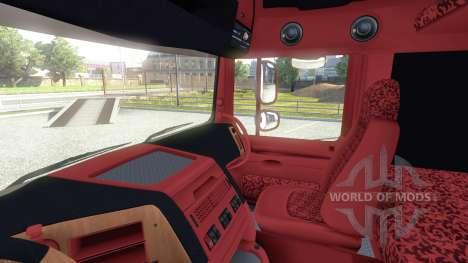 Interior para DAF-Rojo Y Naranja para Euro Truck Simulator 2