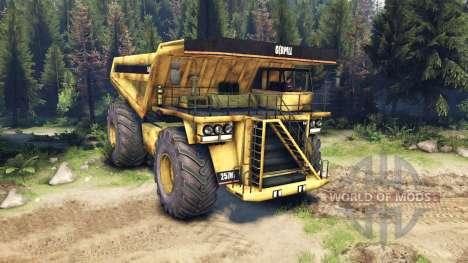 Camión de minería para Spin Tires