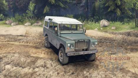 Land Rover Defender Cyan para Spin Tires