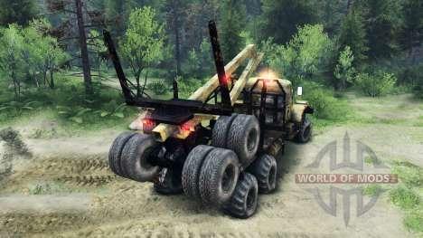 KrAZ-255 edad para Spin Tires