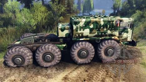 MAZ-535 de camuflaje v4 para Spin Tires