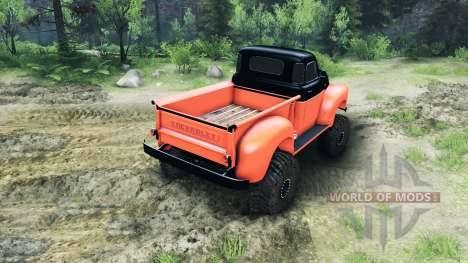 Chevrolet 3100 Pickup UMT 1951 para Spin Tires