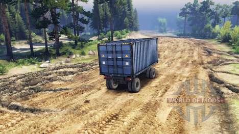 Trailer-contenedor para ZIL-133 G1 y ZIL-133 GA para Spin Tires