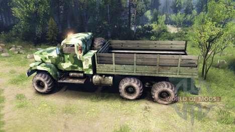 KrAZ-255 camo v1 para Spin Tires
