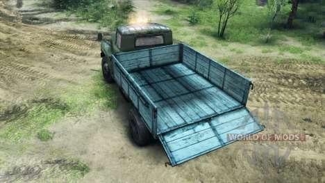 ZIL-130 en un nuevo color para Spin Tires