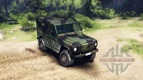 Mercedes-Benz 250GD Wolf para Spin Tires
