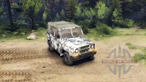 El UAZ-469 en un nuevo color para Spin Tires