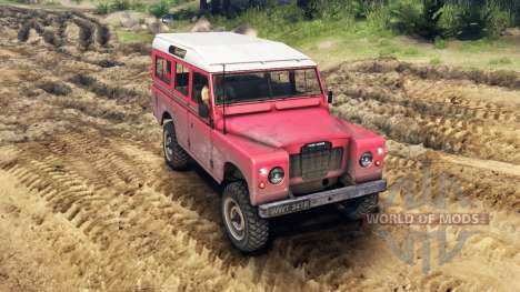 Land Rover Defender Red para Spin Tires