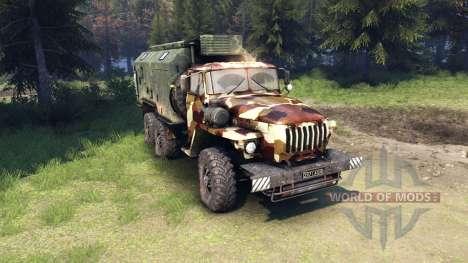 Ural-4320 camo v2 para Spin Tires