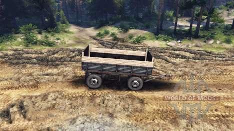 El trailer de plataforma v2 para ZIL-133 G1 y ZI para Spin Tires