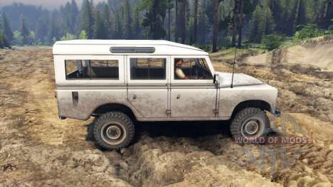 Land Rover Defender White para Spin Tires