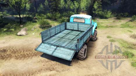 ZIL-130 4x4 para Spin Tires