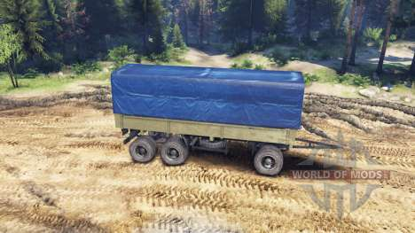 Trailer carpa para ZIL-133 G1 y ZIL-133 GA para Spin Tires