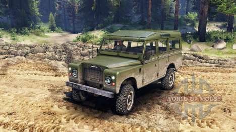 Land Rover Defender Olive para Spin Tires