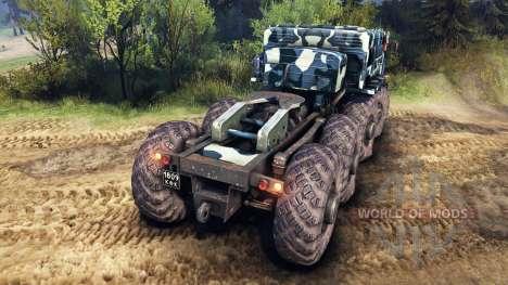 MAZ-535 de camuflaje v3 para Spin Tires
