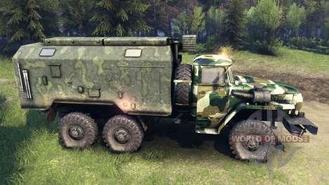 Ural-4320 camo v4 para Spin Tires