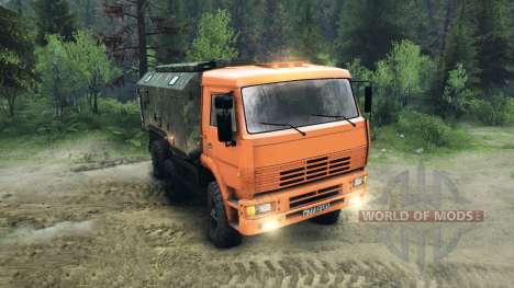 KamAZ-6520 planteadas para Spin Tires