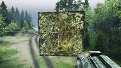 Holográfica mapa de el guarda Forestal