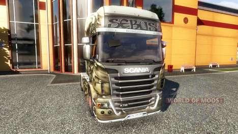 Color de Sebús Joker - en el tractor Scania para Euro Truck Simulator 2