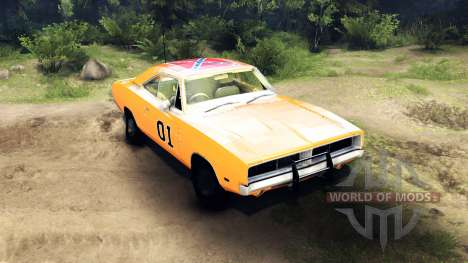 Dodge Charger General Lee para Spin Tires