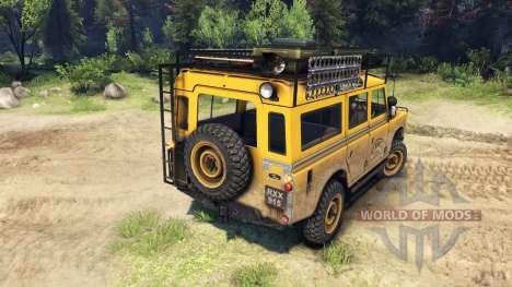 Land Rover Defender Series III v2.2 Camel Trophy para Spin Tires