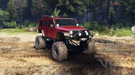 Jeep Wrangler Unlimited SID Red para Spin Tires