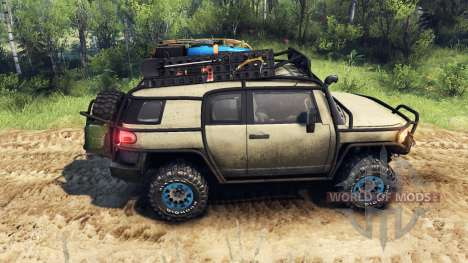 Toyota FJ Cruiser de color marrón para Spin Tires