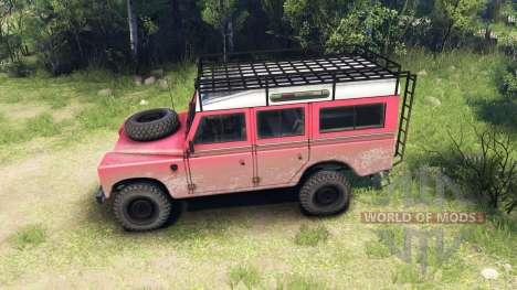 Land Rover Defender Series III v2.2 Red para Spin Tires
