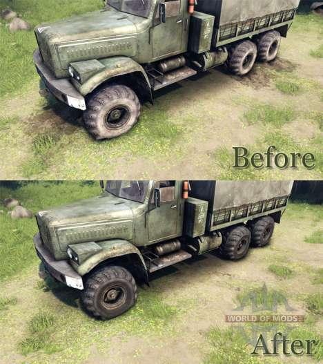 Nuevas texturas para las ruedas KrAZ-255 para Spin Tires