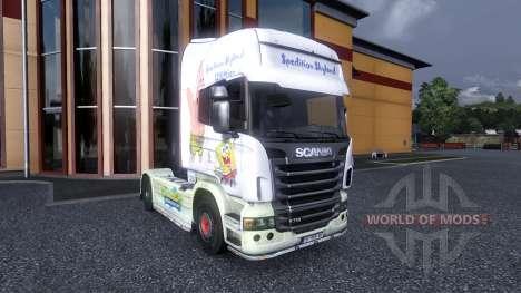 Color-Bob esponja - camión Scania para Euro Truck Simulator 2